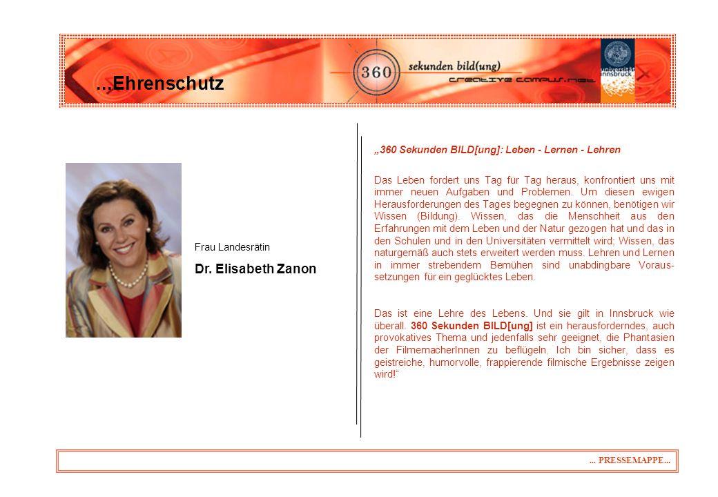 """31.03.2017 ...Ehrenschutz. """"360 Sekunden BILD[ung]: Leben - Lernen - Lehren."""